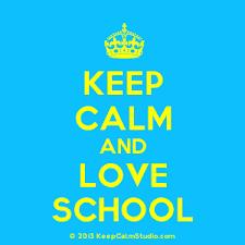 Afbeeldingsresultaat voor keep calm ik ga naar school