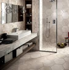 ideas bathroom tile shower cute:  bathroom large hexagonal tile in bathroom and shower bathroom tile id