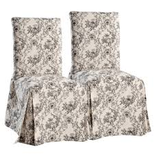 dining table parson chairs interior: appealing decorative parson dining chairs with floral surefit slipcover