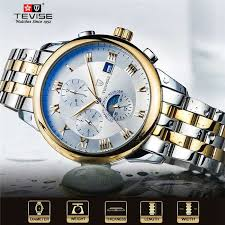 HD <b>TEVISE Men's Watch Luxury</b> Stainless Business Automatic ...