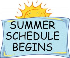 Image result for summer schedule sun