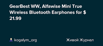 GearBest WW, <b>Alfawise Mini True</b> Wireless Bluetooth Earphones for ...