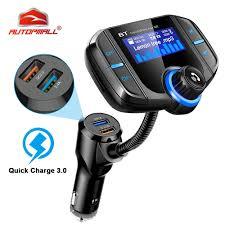 Wireless <b>Car FM Transmitter</b> Wireless Radio Adapter QC USB ...