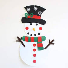 DIY Felt <b>Christmas Snowman</b> Game Set with Detachable Ornaments ...