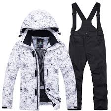 Thermal <b>Kids Ski Suit Boys</b> Girls Ski Jacket Pants Set Windproof ...