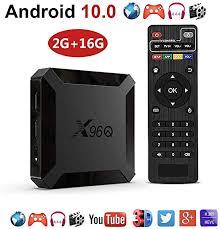 WFGZQ Android TV Box <b>X96Q Android 10.0</b> TV Box 2GB RAM 16GB ...