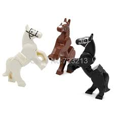 1Pc Horse Building <b>Blocks Wild Animal</b> Figure Set Military SWAT ...