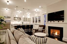 living room fireplace kitchens size