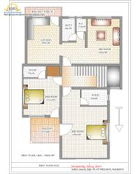 Ideas duplex villa planDuplex house plan and elevation first floor plan   sq m   sq
