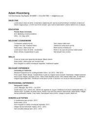 internship resume sample 9 objective for internship resume