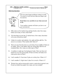 Reasoning/Problem Solving Maths Worksheets for Year 6 (age 10-11)Multi Step 'Real Life' Problems