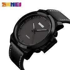 <b>SKMEI</b> 1208 <b>Quartz Watch Men</b> Plating Large Dial 30M Waterproof