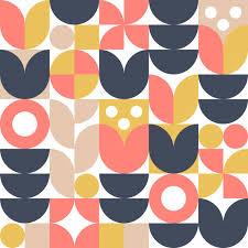 <b>Abstract scandinavian</b> flower background or seamless pattern ...