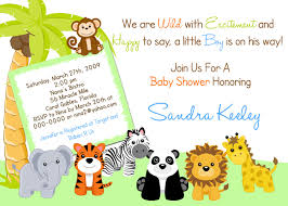 jungle baby shower invitation templates com template safari animals baby shower invitations safari baby shower