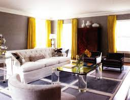 yellow grey decor