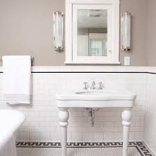 subway tile bathroom wall: clay squared bathrooms taupe walls taupe wall color white subway tile