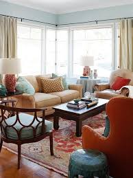 decor red blue room full: with an icy blue color on the walls this living room needed a strong accent