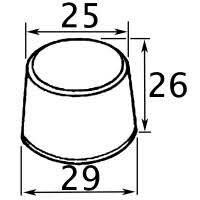 «<b>Заглушка</b> наружная <b>круглая</b> D25 мм» — Результаты поиска ...
