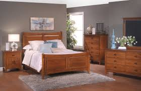 mirror bedroom furniture set luxury amish furniture for bedroom with panel bed and nightstand also