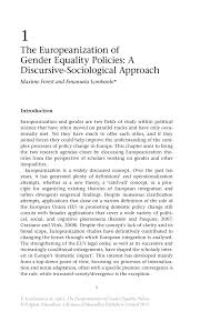 argumentative essay gender inequality the europeanization of gender equality policies a discursive inside