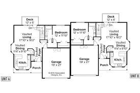 Country House Plans   Krammer     Associated DesignsDuplex Plan   Kammer     st Floor Plan