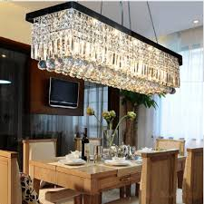 Chandelier Dining Room Good Rectangular Chandelier Dining Room 3 Crystal Rectangular