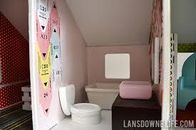 handmade dollhouse bathroom with toilet tub and vanity build dollhouse furniture
