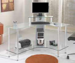 glass desk table glass office desk l shaped top clear glass office computer desk acrylic glass desks