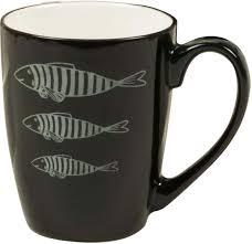 """<b>Кружка Atmosphere</b> """"<b>Black</b> & White. Черные рыбы"""", цвет: черный ..."""