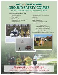 maine fire service institute lifeflight of ground safety flyer saco