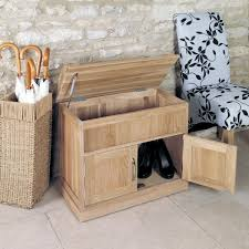baumhaus mobel solid oak shoe bench with hidden storage cor20c baumhaus mobel solid oak hidden
