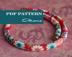 PDF Pattern for beaded crochet <b>necklace</b> - <b>Seed bead</b> crochet rope ...