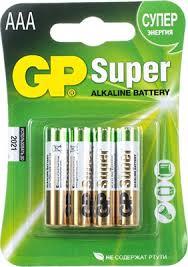 <b>Батарейка GP 24A</b>(<b>LR03</b>) <b>4</b> штуки Super Alkaline AAA купить в ...