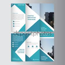 blue triangle business trifold leaflet brochure flyer report blue triangle business trifold leaflet brochure flyer report template vector minimal flat design set abstract presentation layout templates a4 size stock