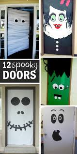 best ideas about halloween door decorations diy 15 fun halloween front doors