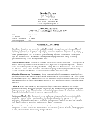 medical administrative assistant resume no experience    cv sample  administrative assistant cover letter  chronological resume