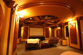 themed family rooms interior home theater: luxury gold themed living room theater for big room design ideas with unique ornament on ceiling