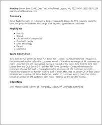 professional server bartender templates to showcase your talent    resume templates  server bartender