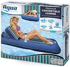Aqua Premium Convertible Pool Lounger, <b>Inflatable Pool Float</b> ...