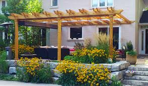 Pergola Designs Attached to House Plans  Attached Pergola Plans    Attached Pergola Design Plans