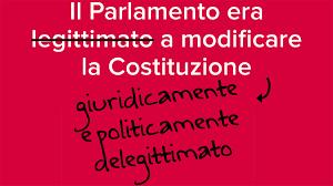 Risultati immagini per una riforma approvata da un parlamento eletto con legge incostituzionale