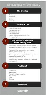 personal thank you note templates tips and tools the distilled man the simple 5 part thank you note formula includes the greeting the thank