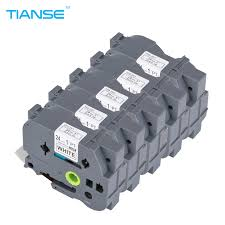 tianse 5pcs label tapes compatible for brother p touch printer tz 24mm black on yellow tze 651 tze651 tze 651 p touch
