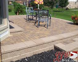 decoration pavers patio beauteous paver: raised brick paver patio with unilock pisa ii retaining wall and classic x paver stones