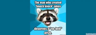 lame pun coon knock knock jokes Facebook Cover timeline photo ... via Relatably.com