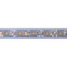 <b>Панель ПВХ</b> Регул Декопан <b>Фриз</b> Медальон синий, синяя, 957 х ...
