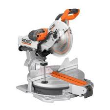 RIDGID 15 Amp 12 in. <b>Sliding Compound</b> Miter Saw with <b>Adjustable</b> ...
