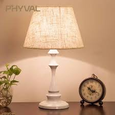 <b>Table Lamps</b> for Bedroom Bedside <b>LED Nordic</b> Modern Fabric ...