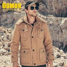 <b>Oumor Men</b> 2019 <b>Winter</b> New Casual Fleece Warm Jacket Parkas ...