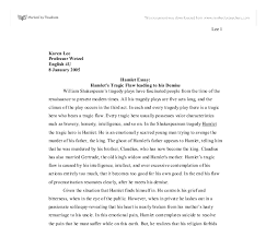 hamlet    s tragic flaw leading to his demise   a level english    document image preview